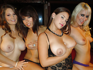 Girls at the party go wild