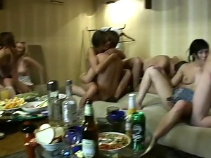 Hot Orgy With Naughty Drunk Teens