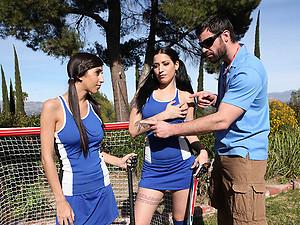 Busty Babes Enjoy Hot Outdoor Sex
