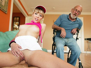 Porn Pros Network - Nicole Ray loves to cheer up old guys at her grandpa's retirement home. Just last week she went over there to play ping pong and with an old geezer's balls in her mouth. This horny fresh 18 year old is obsessed with wrinkly shaft going