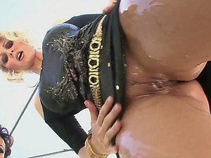 Lesbian MILFs Get Fucked and Jizzed On Their Jugs In a Group Sex Party