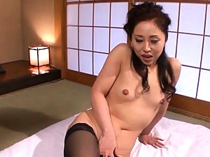 Seiko Pretty Asian woman gets pussy poked and nipples tweaked