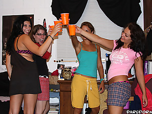 Watchmy hot college dorm party go wild in these hot fucking 4some fuck vids and lesbian babes eating eachother out