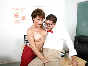 Glasses guy fucking sexy teacher