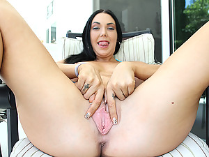 Megan Spreads Wide For Black Cock
