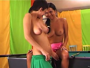 Cherry And Lana In Pool Lesbian Action